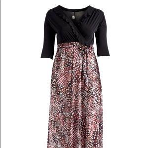 🎉2x HOST PICK🎉 Black and Coral Maxi Dress